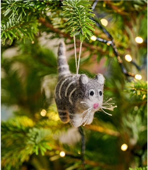 Kitty Cat Christmas Decoration