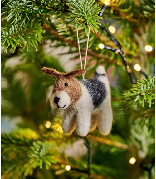 Winston The Dog Christmas Decoration