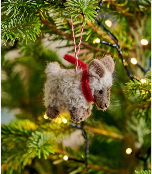 Woolly Sheep Christmas Decoration