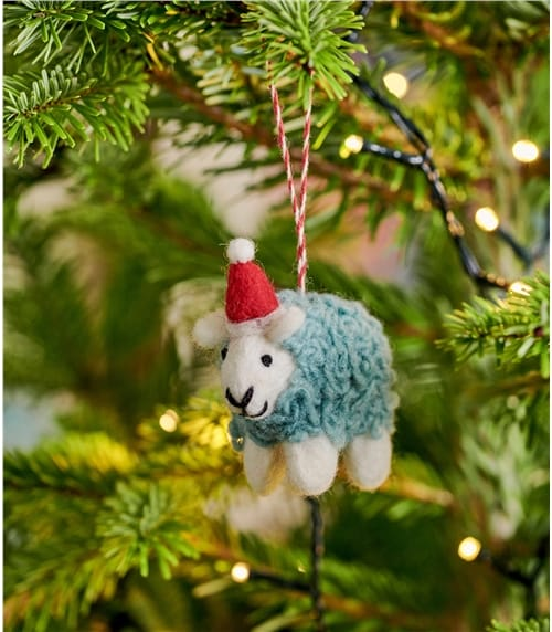 Déco mouton avec bonnet de Noël - Maison - Pure Laine