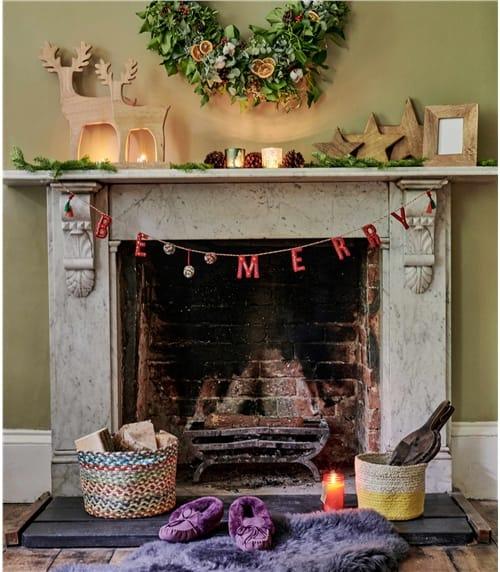 """Weihnachtliche Girlande """"Be merry"""""""