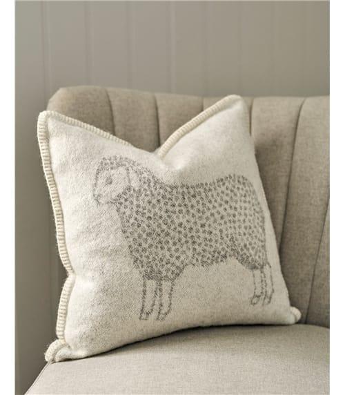 Housse de coussin motif mouton - Maison - Pure Laine d'Agneau