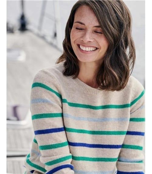 Pull à rayures multicolores - Femme - Pure Laine d'Agneau