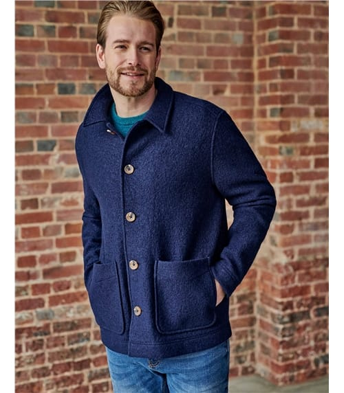 Mens Boiled Wool Worker Jacket