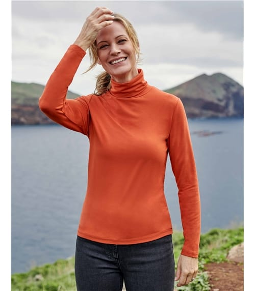 Womens Slim Polo Neck Top