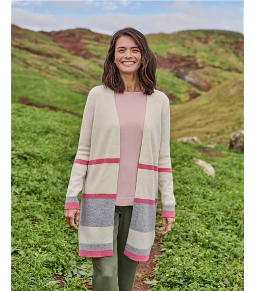 Lambswool Colour Block Cardigan