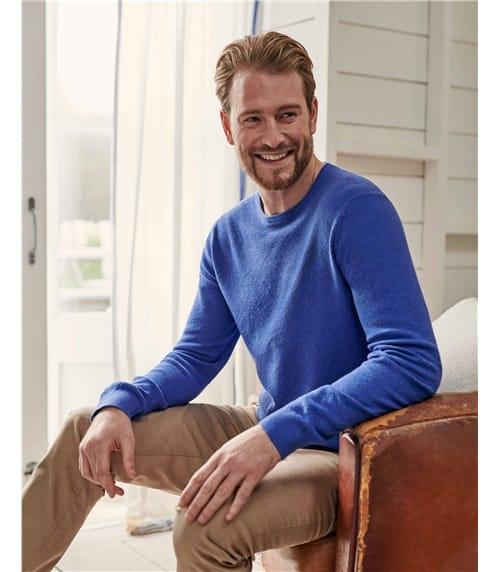 Organic Cotton Cashmere Textured Crew Neck Jumper
