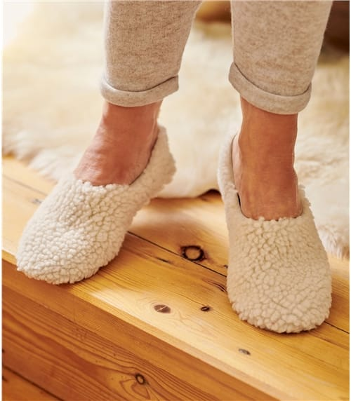 Womens Soft Sheepskin Ballerina