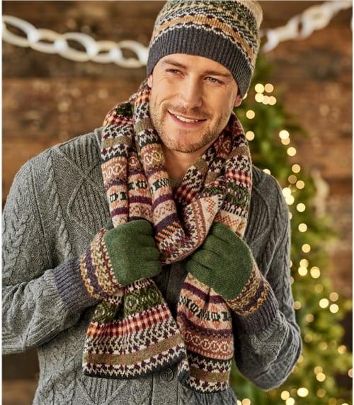 Мужской жаккардовый шарф