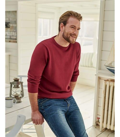 Pullover mit Rundhalsausschnitt aus Bio-Baumwolle