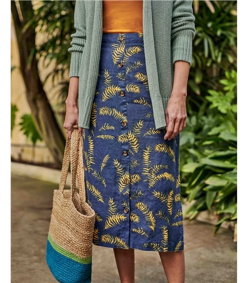 Tropical Printed Skirt