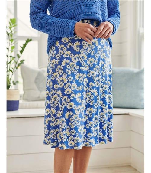 Womens Jersey A Line Skirt