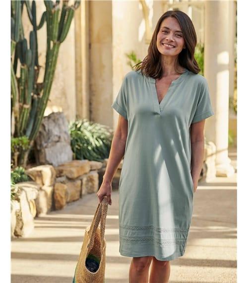 Tunique à détail brodé - Femme - Jersey