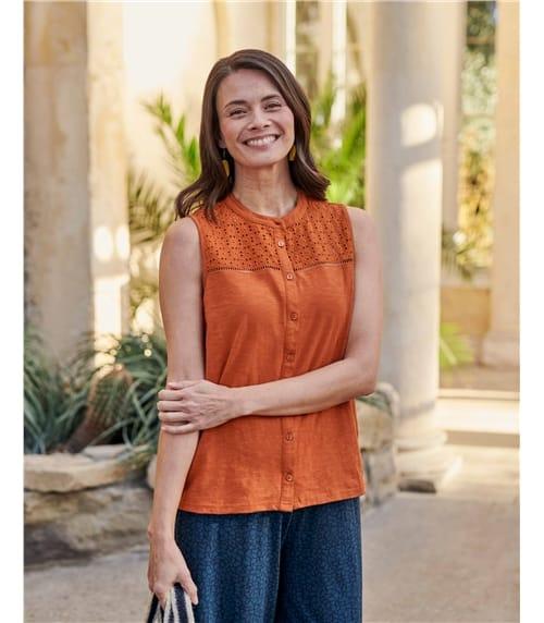 Sleeveless Jersey Shirt