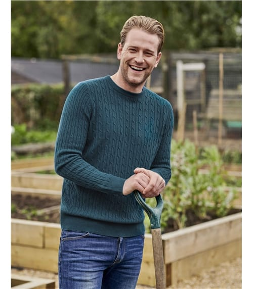 Cashmere and Merino Cable Sweater