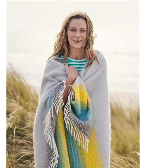 Pure Wool Ombre Stripe Throw