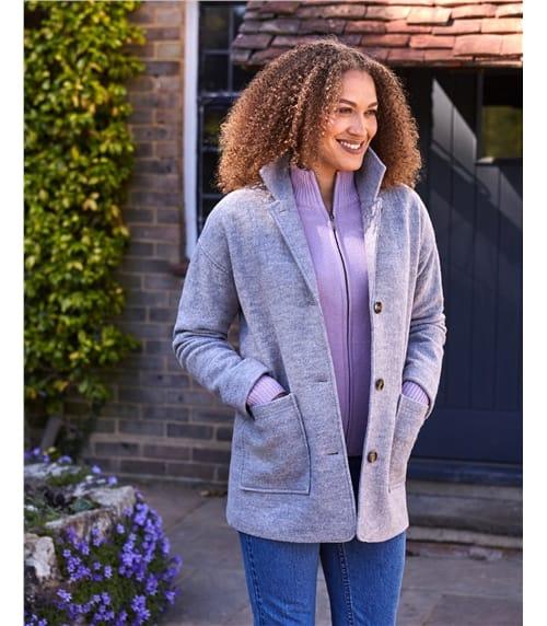 Boiled Wool Revere Coat