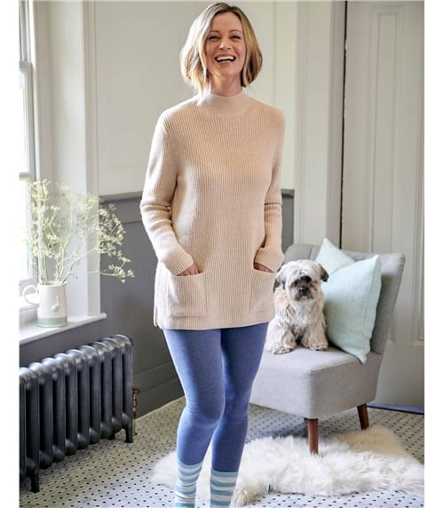 Stand Collar Pocket Sweater
