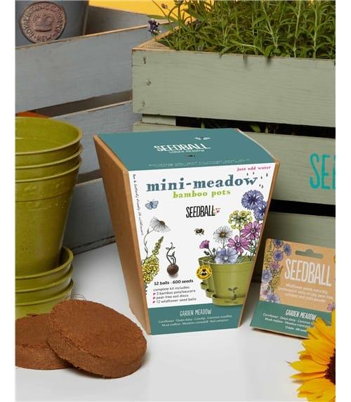 Mini Meadow Bamboo Pot Set