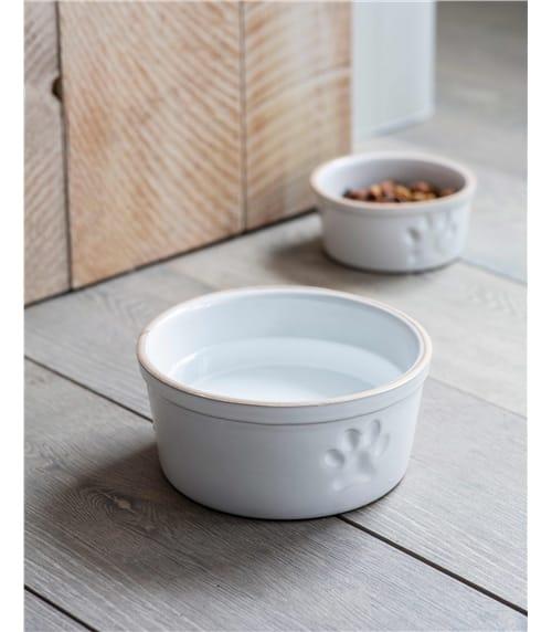 Garden Trading Paw Print Ceramic Dog Bowl