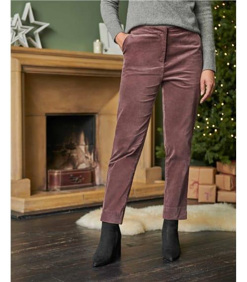 Velvet Straight Leg Trouser