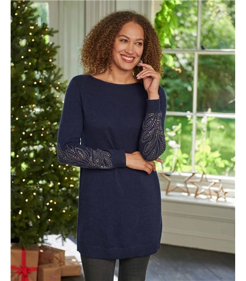 Boat Neck Tunic With Sleeve Detail