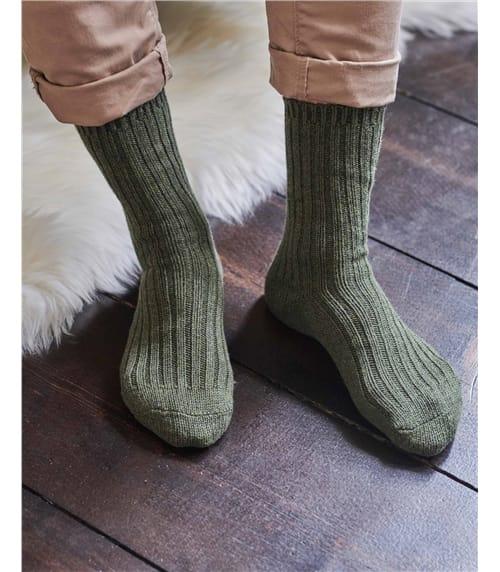 Chaussettes côtelées - Femme - Pur coton