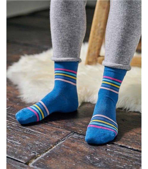 Womens Rainbow Bamboo Sock