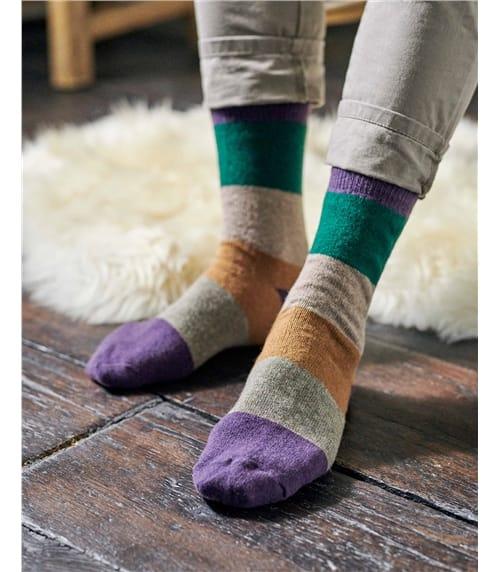 Gestreifte Socken aus Lammwolle für Herren