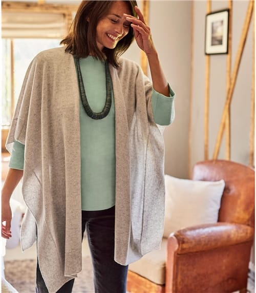 Womens Cashmere & Merino Blend Blanket Wrap