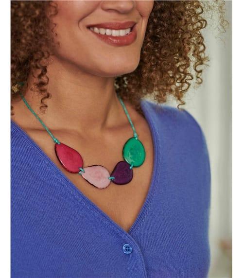 Tagua Nut Beaded Necklace