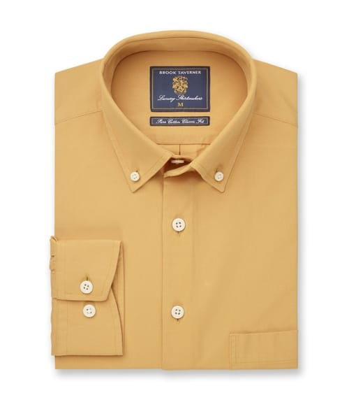 Classic Fit Garment Washed Twill Shirt