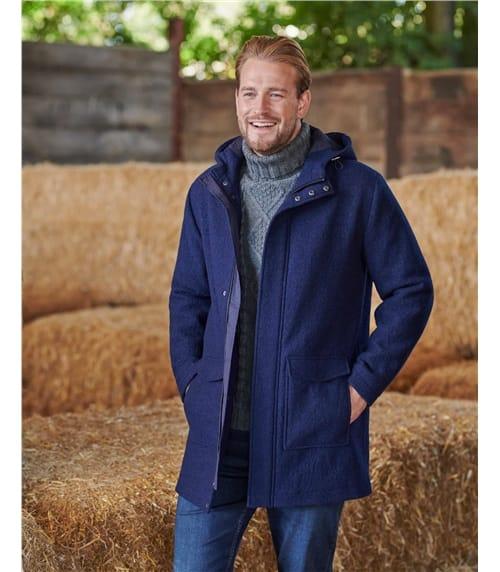 Мужское пальто из вареной шерсти