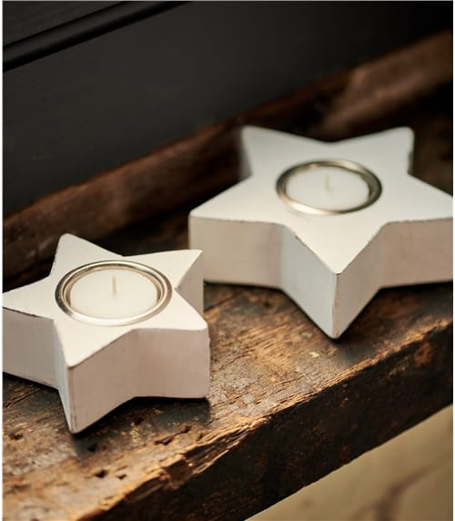 Two Pack Star Tea Light Holders