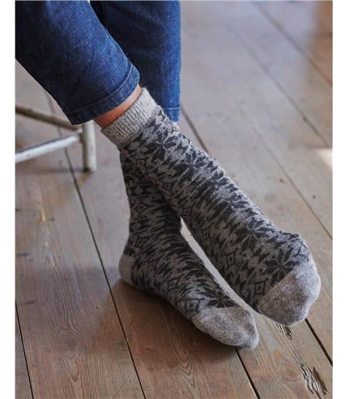 Socken mit Fair Isle-Muster für Herren