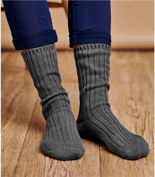 Cotton Rib Socks