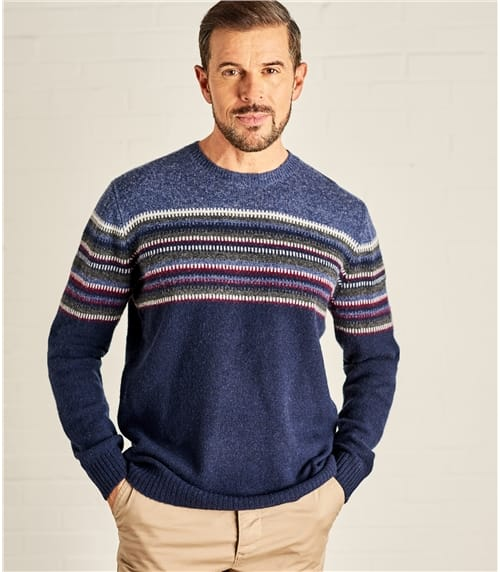 Mens Zig Zag Stripe Sweater