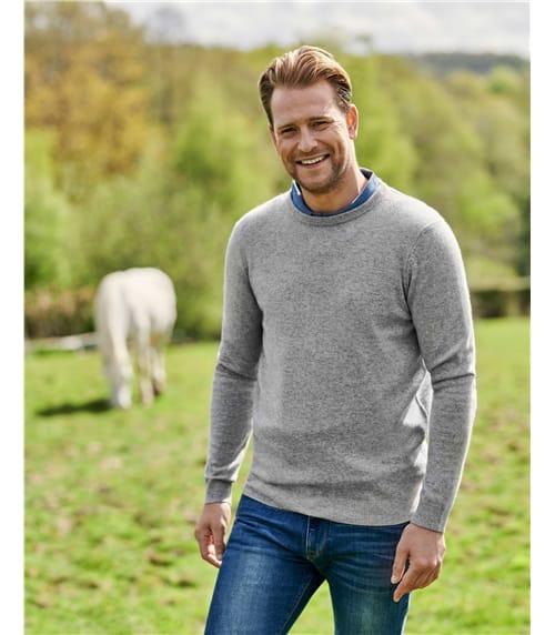 Cashmere Merino Crew Neck Sweater