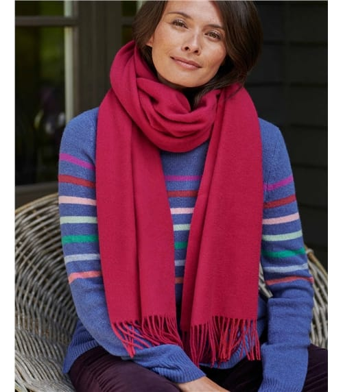 Wide Pure Wool Scarf