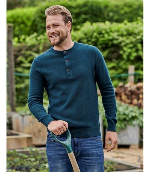 Knitted Henley Jumper
