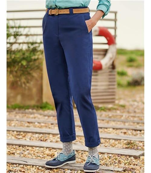 Pantalon chino - Femme - Coton mélangé