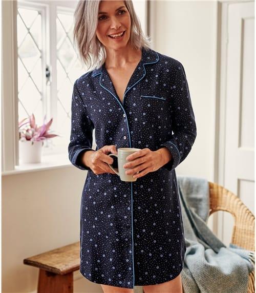 Nachthemd aus leicht angerauter Baumwolle