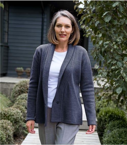 Ladies Boiled Wool Jacket