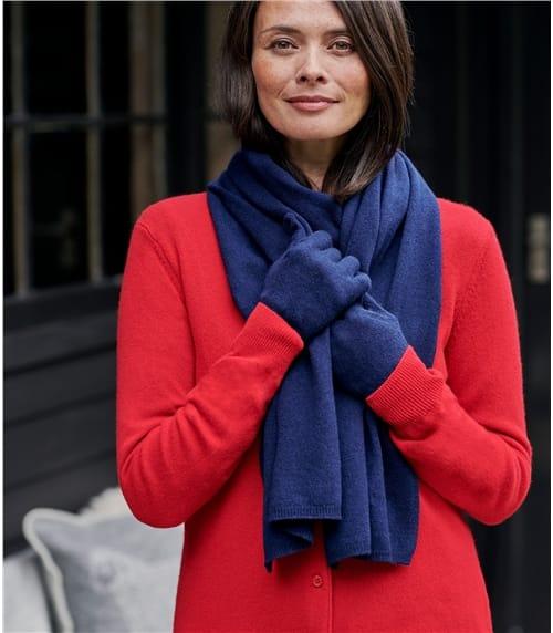 Luxuriöser, weicher Schal aus Merino- und Kaschmirwolle für Damen