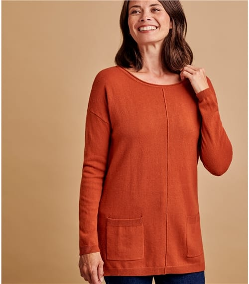 Womens Cashmere & Merino Pocket Tunic