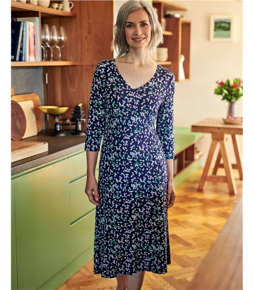 Printed Dress Long Sleeve