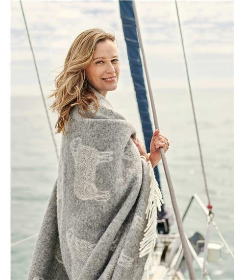 Large couverture motif mouton - Maison - Pure Laine d'Agneau