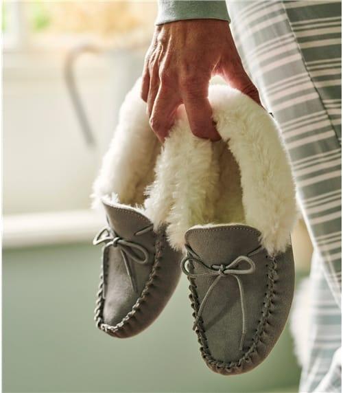 Womens Sheepskin Moccasin Slipper
