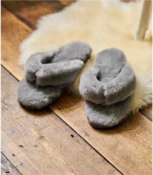 Womens Sheepskin ToePost Slipper
