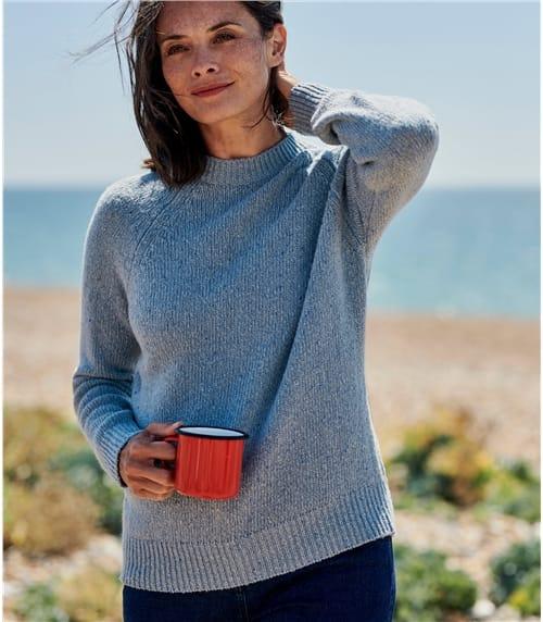 Pull effet Tweed - Femme - Laine mélangée